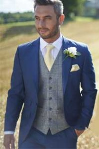 Blue Lounge Suit Hire