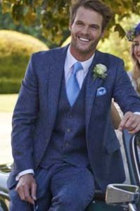 Blue Tweed Suit Hire