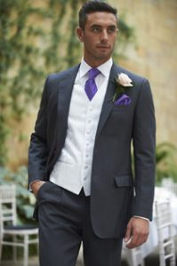 Charcoal Grey Lounge Suit Hire Leicester
