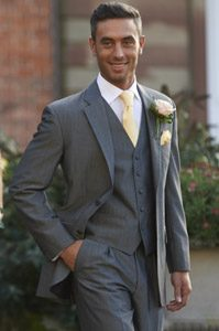 Lightweight Grey Lounge Suit Hire Leicester