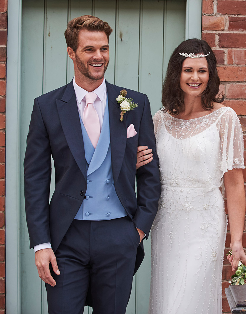 Navy Mohair Tailcoat Wedding Suit Hire