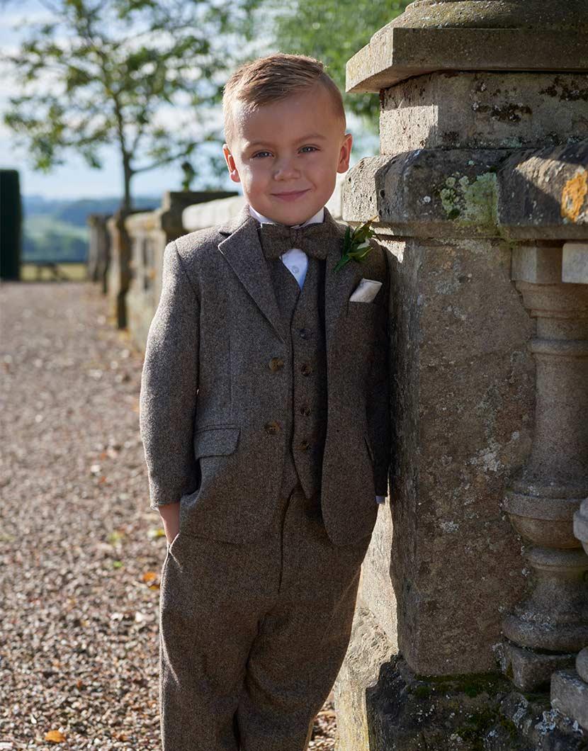 Brown Tweed Wool Suit