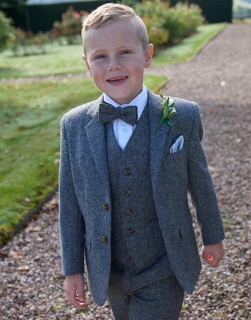 Grey Tweed Wool Suit