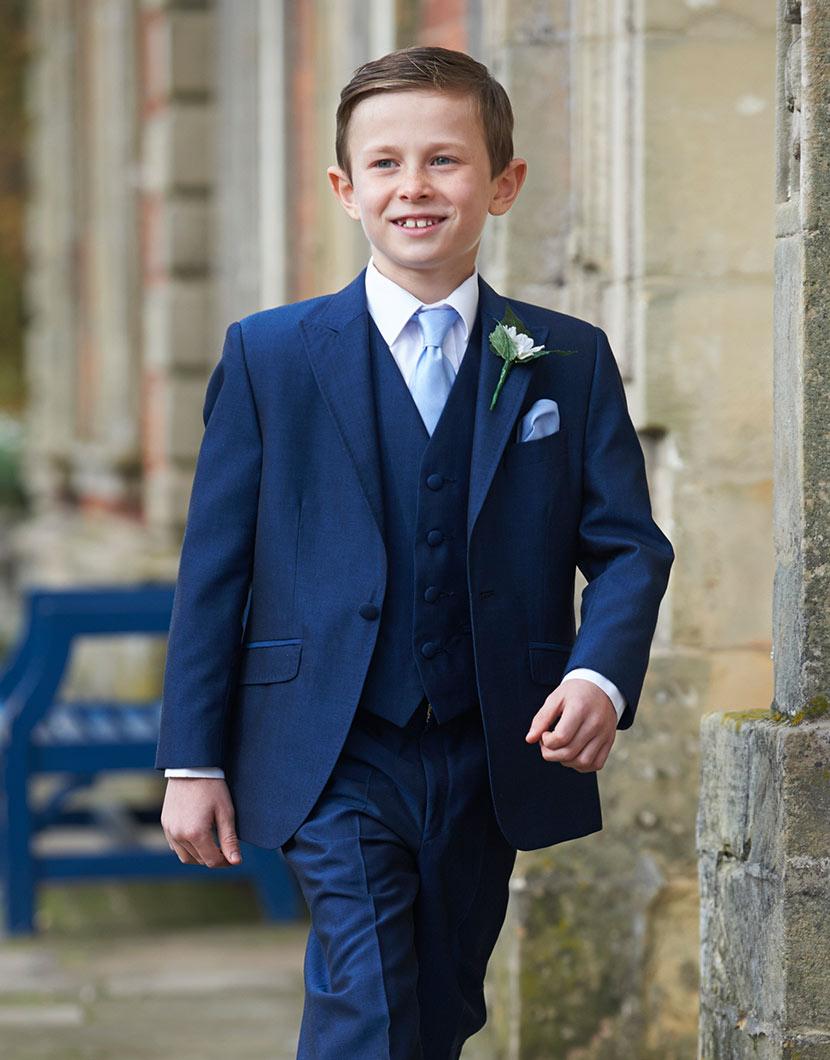 Royal Blue Mohair Lounge Suit