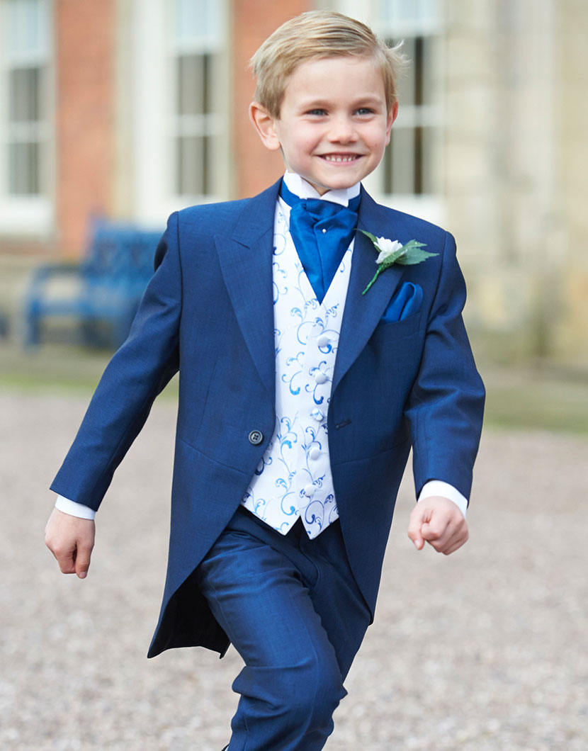 Royal Blue Mohair Tailcoat
