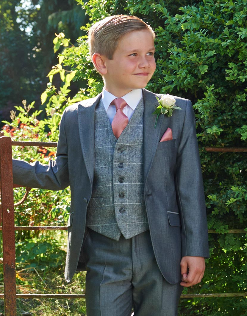 Silver Grey Mohair Lounge Suit