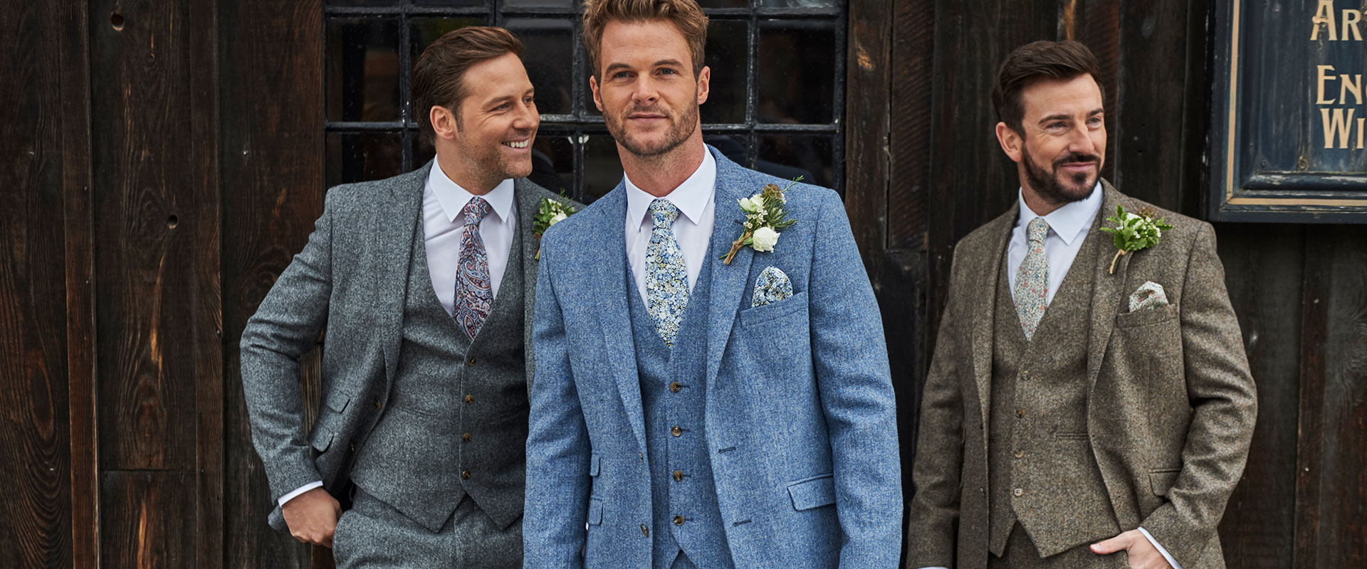 Tweed Wedding Suit Hire